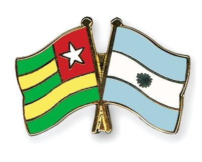 Crossed Flag Pins Togo-Argentina