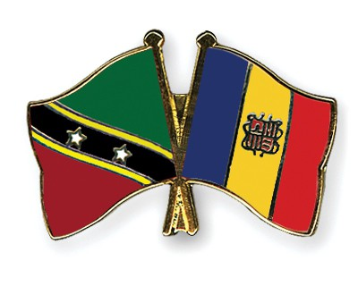 Crossed Flag Pins Saint-Kitts-and-Nevis-Andorra