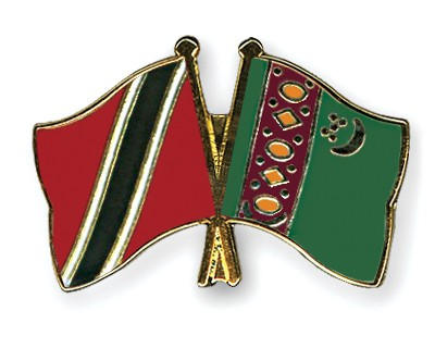 Crossed Flag Pins Trinidad-and-Tobago-Turkmenistan