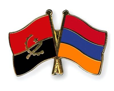 Crossed Flag Pins Angola-Armenia