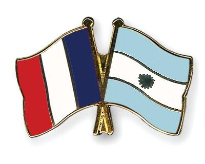 Special Offer Crossed Flag Pins France-Argentina