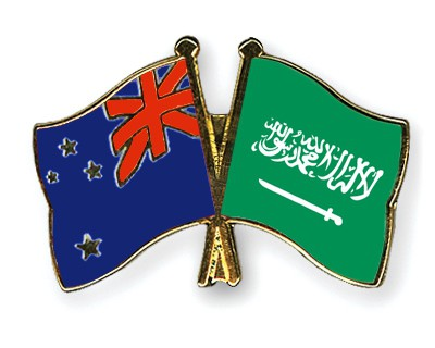 Special Offer Crossed Flag Pins New-Zealand-Saudi-Arabia
