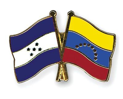 Crossed Flag Pins Honduras-Venezuela