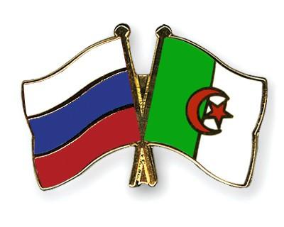 Crossed Flag Pins Russia-Algeria