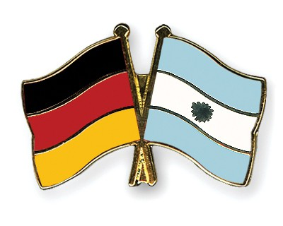 Crossed Flag Pins Germany-Argentina