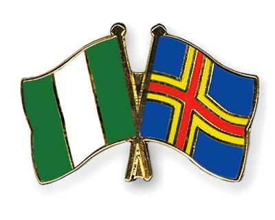 Crossed Flag Pins Nigeria-Aland