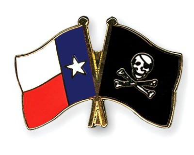 Crossed Flag Pins Texas-Pirate-with-Bone