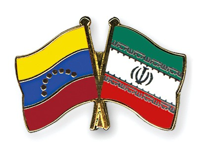 Crossed Flag Pins Venezuela-Iran