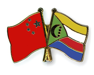 Crossed Flag Pins China-Comoros