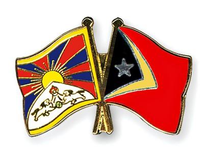 Crossed Flag Pins Tibet-Timor-Leste