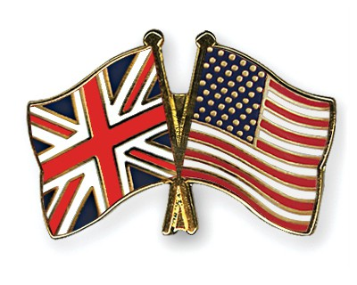Special Offer Crossed Flag Pins Great-Britain-USA