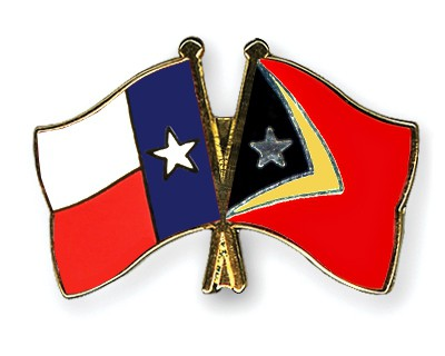 Crossed Flag Pins Texas-Timor-Leste