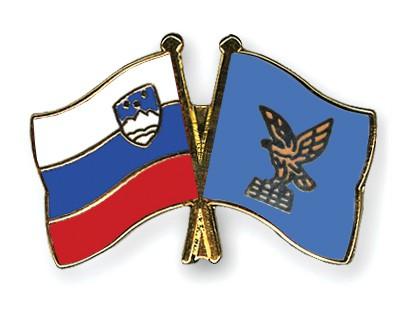 Special Offer Crossed Flag Pins Slovenia-Friuli-Venezia-Giulia