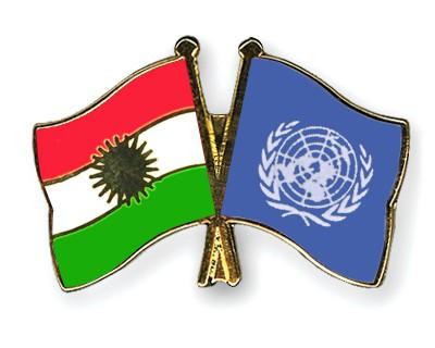 Crossed Flag Pins Kurdistan-UNO