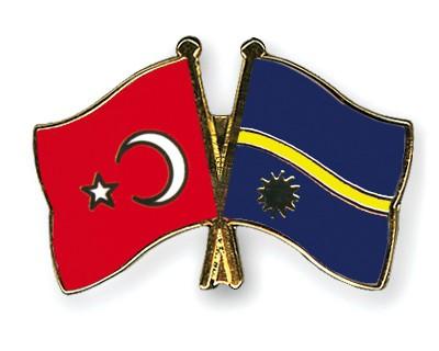 Crossed Flag Pins Turkey-Nauru