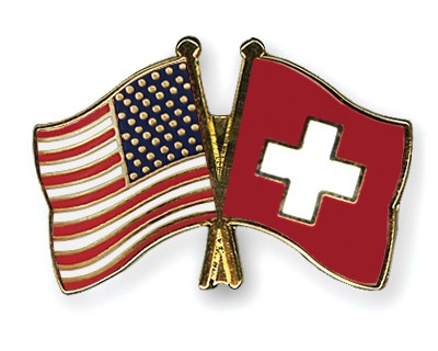 Special Offer Crossed Flag Pins USA-Switzerland