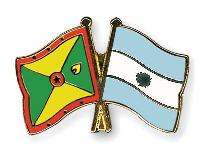 Crossed Flag Pins Grenada-Argentina