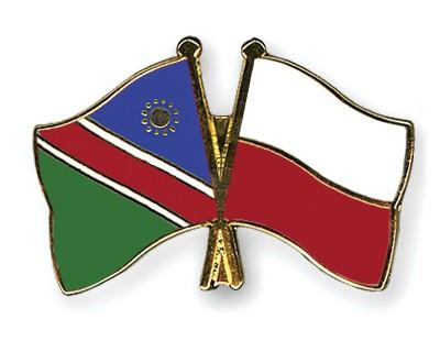 Crossed Flag Pins Namibia-Poland