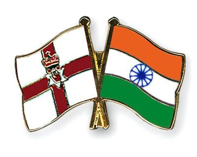 Crossed Flag Pins Northern-Ireland-India