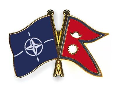 Crossed Flag Pins NATO-Nepal