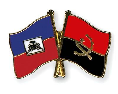Crossed Flag Pins Haiti-Angola