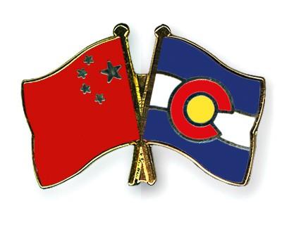 Crossed Flag Pins China-Colorado