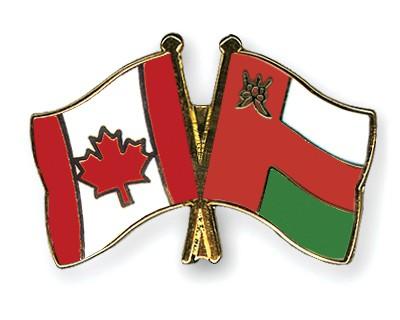 Crossed Flag Pins Canada-Oman