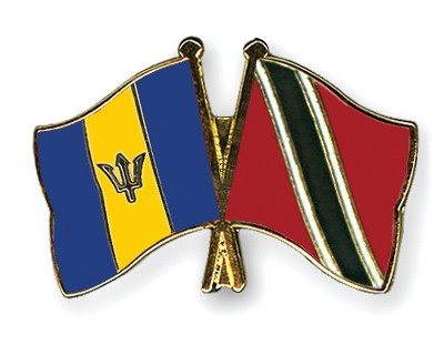 Crossed Flag Pins Barbados Trinidad And Tobago