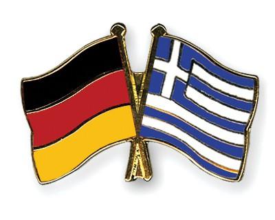 Crossed Flag Pins Germany-Greece