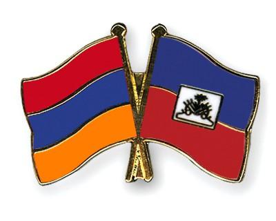 Crossed Flag Pins Armenia-Haiti
