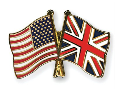 Crossed Flag Pins USA-Great-Britain