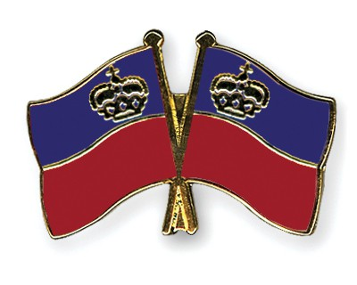 Crossed Flag Pins Liechtenstein-Liechtenstein