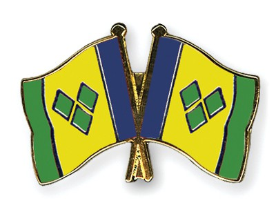 Crossed Flag Pins Saint-Vincent-and-the-Grenadines-Saint-Vincent-and-the-Grenadines