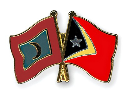 Crossed Flag Pins Maldives-Timor-Leste
