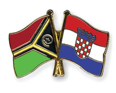 Crossed Flag Pins Vanuatu-Croatia