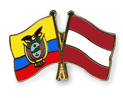 Crossed Flag Pins Ecuador-Austria
