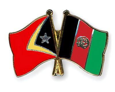 Crossed Flag Pins Timor-Leste-Afghanistan