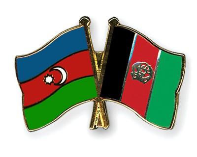 Crossed Flag Pins Azerbaijan-Afghanistan