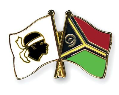 Crossed Flag Pins Corsica-Vanuatu