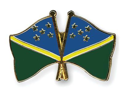 Crossed Flag Pins Solomon-Islands-Solomon-Islands