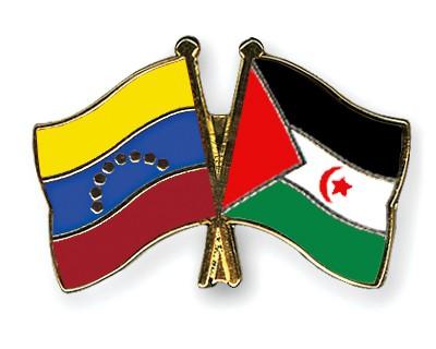 Crossed Flag Pins Venezuela-Western-Sahara