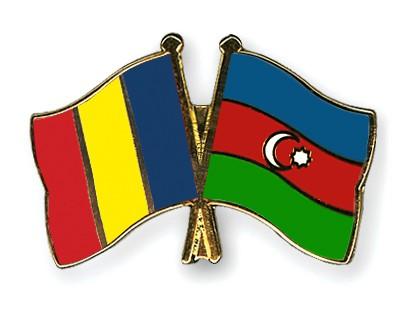 Crossed Flag Pins Romania-Azerbaijan