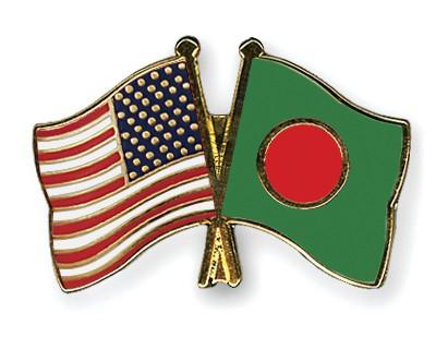 Crossed Flag Pins USA-Bangladesh