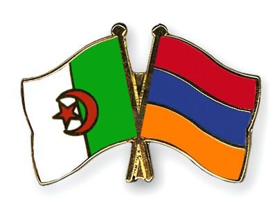 Crossed Flag Pins Algeria-Armenia