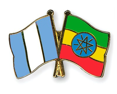 Crossed Flag Pins Guatemala-Ethiopia