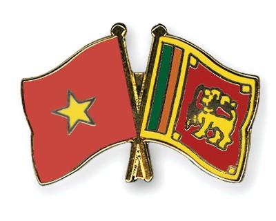 Crossed Flag Pins Vietnam-Sri-Lanka