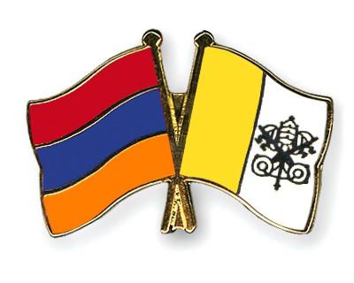 Crossed Flag Pins Armenia-Vatican-City
