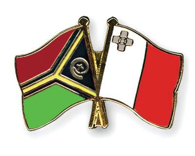 Crossed Flag Pins Vanuatu-Malta
