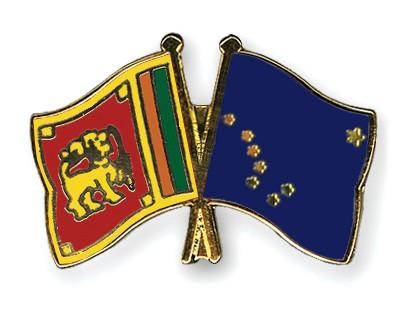 Crossed Flag Pins Sri-Lanka-Alaska
