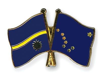Crossed Flag Pins Nauru-Alaska